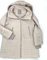 $1110 Soia & Kyo Women's Gray Avery Hooded Parka Jacket Winter Coat Size S