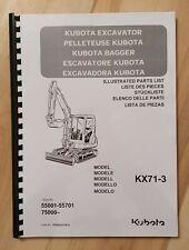 Ersatzteilliste / Stückliste für Kubota KX71-3