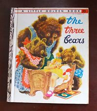 """VINTAGE CHILDREN'S CLASSIC 1948 """"THE THREE BEARS"""" A LITTLE GOLDEN BOOK"""