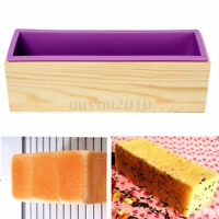 Backform Kuchen Brotback Brot Form Königskuchen Kastenform 1.2KG Silikon + Holz