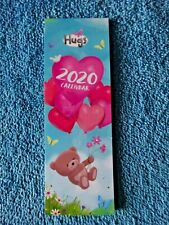 Beautiful Hugs Bears Small Bookmark Calendar 2020 Tear-off page each month!