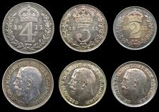 More details for george v 1911 partial maundy set - fourpence, threepence, twopence