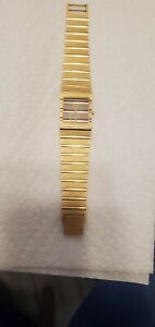 Piaget Quartz Watch Gold tone original Italy Swiss Parts Inside works