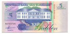 Suriname   5  gulden  1991    FDS  UNC  pick 136 a      lotto 3229