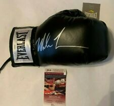 Mike Tyson Autographed Everlast Black Boxing Glove JSA Witnessed COA