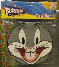 Six Flags Magic Mountain Looney Tunes Bugs Bunny Face Round Large Magnet New