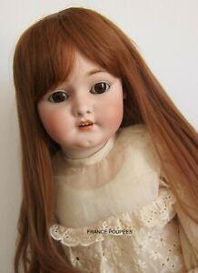 """perruque Auburn châtain Jumeau®T45/46cm-poupée ancienne moderne-doll wig sz18"""""""