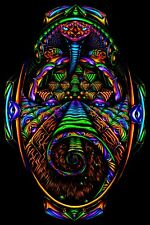 PSYCHEDELIC TAPESTRY UV blacklight backdrop trippy trance party glow decorations