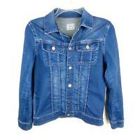 RALPH LAUREN POLO Girls Jean Denim Blue Jacket w/ Stretch Size Large EUC