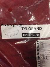 IKEA Cover for Tylosand Footstool Ottoman Everod Red - Brown Slipcover NEW