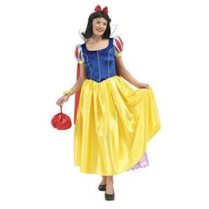 Costume Biancaneve Adulto Taglie L Carnevale Per Adolescenti 16/18 Anni