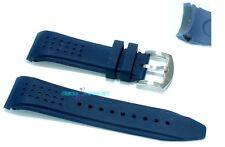 Cinturino gomma blu per orologio ansa rinforzata 22mm tipo nautica silicone rb22