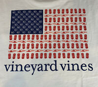 VINEYARD VINES Mens S/S Pocket T Shirt Red White & Brew Sz XL NEW TAGS