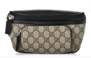 GUCCI GG Supreme Monogram Belt Bag Ebony Large