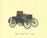 Antique Car 1899 Packard Model A Lithograph Vintage Automobile Print Color Tip
