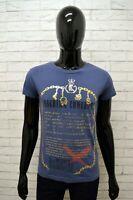 Maglia Blu Manica Corta Uomo DATCH Taglia Size S Slim Polo Shirt Man Cotone