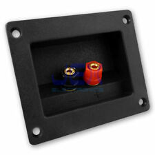 Square Recessed Speaker Binding Post Terminal Connector Plate for SubWoofer