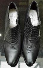 Mujeres/Niñas Botas De Cuero Talla 8 Negro Botas Tacones