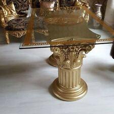 Glastisch Esstisch medusa mäander Barock Säulen Wohntisch Barocktisch 6036 K50