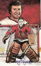Tony Esposito Autographed Hockey Legends Card HOFer