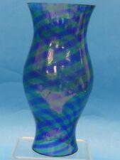 VINTAGE BIANCONI  VENINI MURANO BLUE & GREEN  GLASS HURRICANE LAMP * ITALY