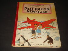 HERGE TINTIN JO ZETTE ET JOCKO DESTINATION NEW YORK B5 EO 1951