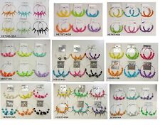 A-88 Wholesale Jewelry lots 10 pairs Big Colorful Fashion Hoop Earrings