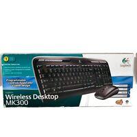 Logitech Wireless Desktop MK300 Wireless Keyboard Wireless Optical Mouse New
