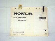 HONDA EM3000 EB3000 GENERATOR PARTS CATALOG (#222)