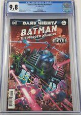 DC Dark Nights Batman The Murder Machine #1 Third 3rd Print CGC 9.8 Metal Tie-In