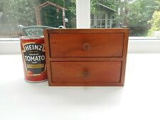 SMALL HEAVY ROSEWOOD TWO DRAWER CHEST. IDEAL FOR DRESSING TABLE NICK-NACKS/CRAFT
