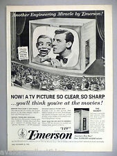 Paul Winchell & Jerry Mahoney for Emerson TV Television PRINT AD -- 1953