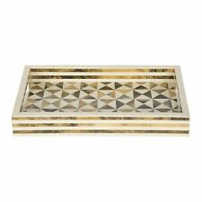Handicrafts Home 12x8 Ferm Triangle Multi Decorative Tray Breakfast Coffee Table