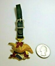 1980 A&Eagle Gold Tone Watch Fob Balfour