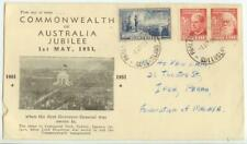 New Listing1951 Australia Jubilee Anv First Day Cover Sc 241a and 242