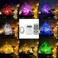 66Leds 5M String LED Fairy Light Copper Wire Timer with ON/OFF 9-Modes Remote