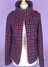 Edina Ronay London Size 12 /M 50% Wool Pink Black Blazer Jacket RRP 195£