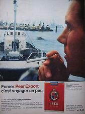 PUBLICITÉ DE PRESSE 1962 CIGARETTES PEER EXPORT - PORT HAMBOURG - ADVERTISING