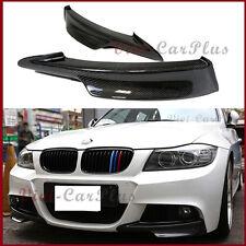 For 09-11 BMW E90 LCI 3-Series M-Tech Carbon Fiber Front Bumper Spoiler 2PCS Lip