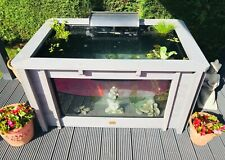 More details for iris clear view garden aquarium grey raised pond with large windows