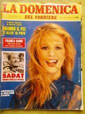La Domenica del Corriere 17 Ottobre 1981 Omicidio Sadat Fischer Bethe Albertazzi