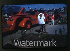 1959 Kodachrome Photo slide Fire Engine Truck #3 California