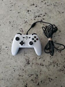Xbox One PC Wired Controller - Power A 1428130-01 - White - Clean Tested Working