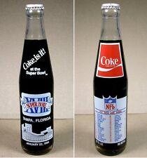 1984 COCA-COLA / SUPER BOWL XVIII TAMPA ~ FULL BOTTLE 1Ooz COKE