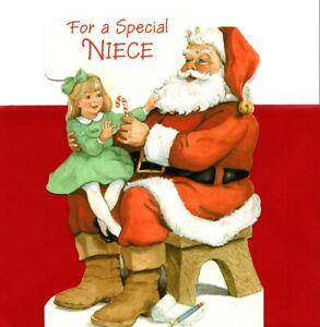 Merry Christmas Special Niece Santa Wish Wishes Hallmark Greeting Card