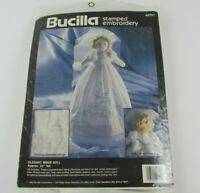 Bucilla Stamped Cross Stitch/Embroidery Elegant Bride Doll 40751 Vintage 1993