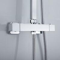 robinet de bain carré thermostatic douche mitigeur de valeur Twin Outlet chrome