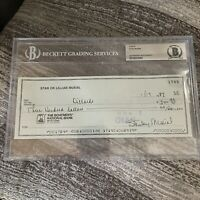Stan the Man Musial Autographed Signed Check 1/1 - BAS Cardinals Dillards