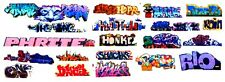 HO COLORFUL GRAFFITI DECALS ASSORTMENT 54  FREE SHIPPING DOMESTIC