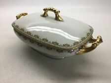 Antique Jean Pouyat Limoges Rectangle Covered Casserole Dish Poy60